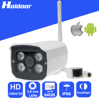 Security Camera With 1 0Megapixel CMOS 3 6mm HD Lens Resolution 720P Waterproof Outdoor IR CUT