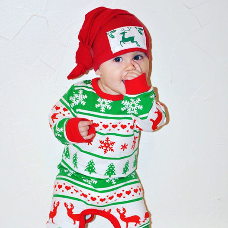 Christmas Baby Rompers Long Sleeve Winter Sleepwear Cotton Soft Clothing Toddler Newborn Baby Girl Boy Deer Jumpsuit 0-24M warm thicken baby rompers long sleeve organic cotton autumn