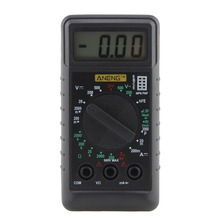 купить Extra Mini Digital Multimeter Overload Protect Voltage Ampere Ohm Meter DC AC Meter Tester Tool Frequency Test Tools дешево