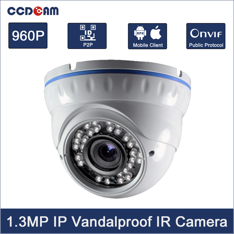 Hot Sale HD CCTV Camera 2.8-12mm Varifocal Lens 960P 1.3MP Megapixel CMOS IR Night Vision Onvif P2P Security IP Camera Outdoor 1 3 megapixel 960p ip dome camera hd poe p2p onvif video surveillance 2 8 12mm varifocal lens cctv security camaras cftv