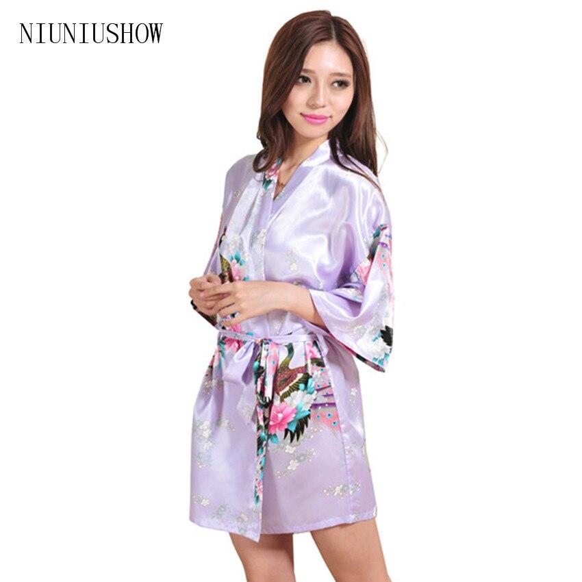 2018 Women Robe Pajama Japanese Yukata Kimono Satin Silk Vintage Bathrobe Nightgown Sexy Lingerie Sleepwear S M L XL XXL 3XL