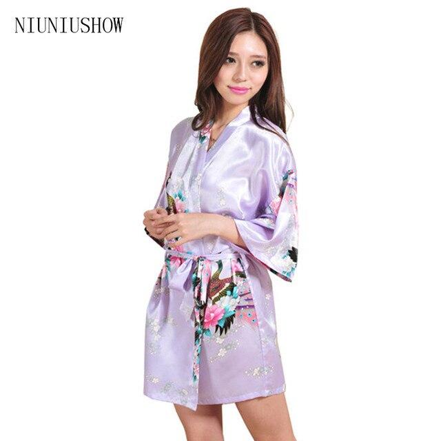 2018 Women Robe Pajama Japanese Yukata Kimono Satin Silk Vintage Bathrobe  Nightgown Sexy Lingerie Sleepwear S M L 1dffd61fa