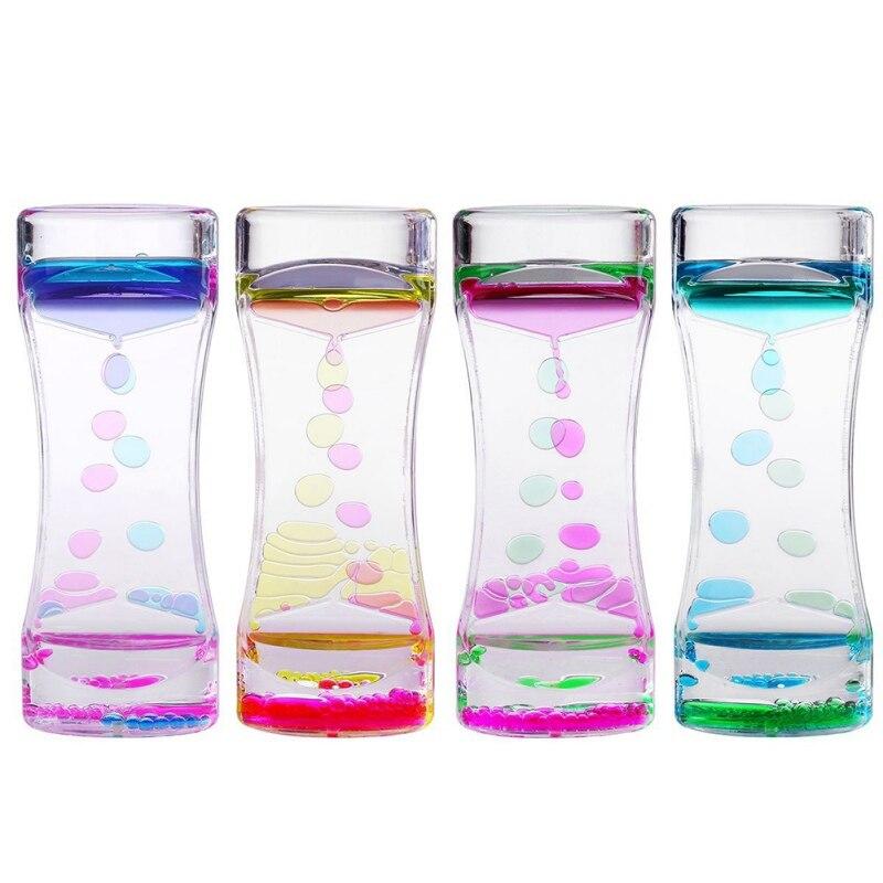 Beautiful Waist 2 Colors Oil Leak Small Dynamic Hourglass Sand Clock Ornament Desk