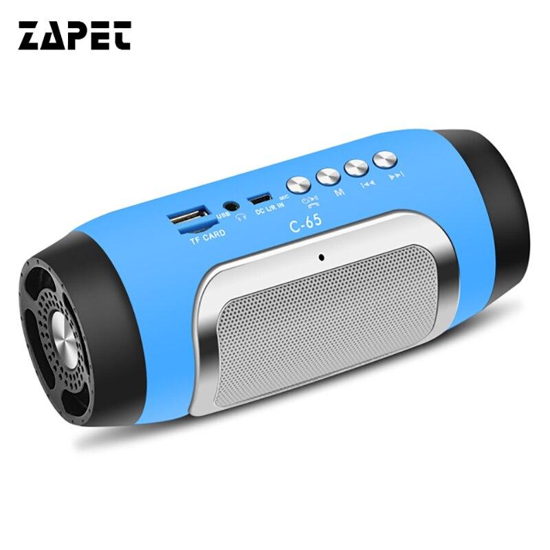 ZAPET C-65 Bluetooth Lautsprecher Mini Beweglicher Drahtloser Lautsprecher Stereo Support Tf-karte FM Hand-free Anrufe Outdoor Home Party Altavoz