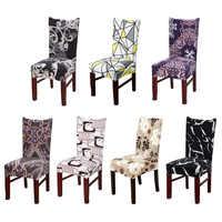 Cubierta de silla de cocina de tela escocesa funda de asiento elástico Silla de comedor casa azul de chaise cubierta de silla de LICRA 1/ 2/4/6 piezas