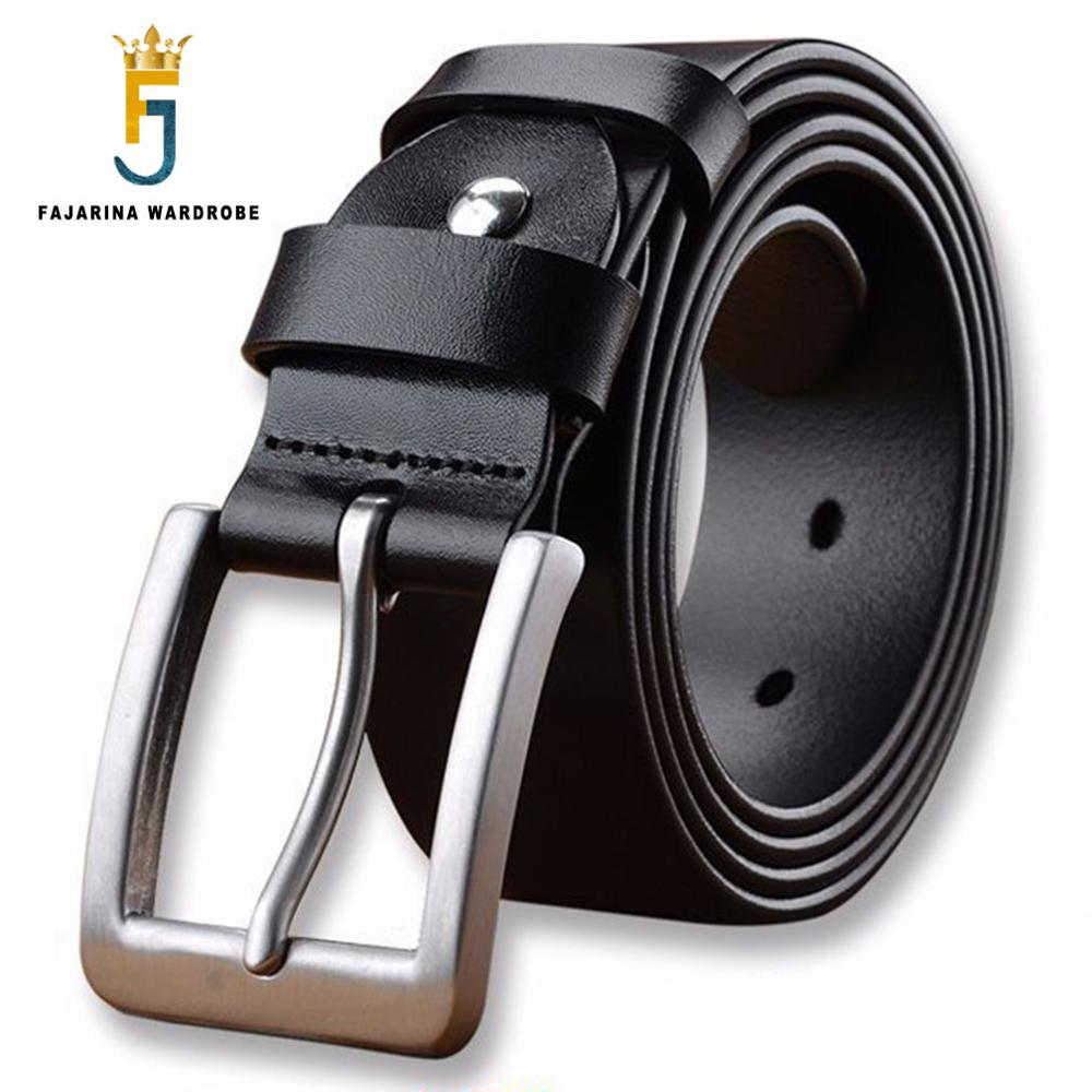 FAJARINA Solid Quality Stainless Steel Pin Buckle Metal Belts for Men Extended Larger 140 160cm Size