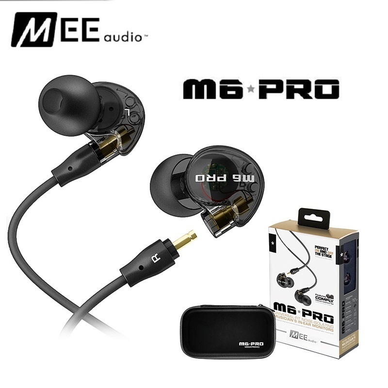 High quality wired Sports Running Earphone MEE Audio M6 PRO Hifi In-Ear Monitors with Detachable Cables PK se215 original senfer dt2 ie800 dynamic with 2ba hybrid drive in ear earphone ceramic hifi earphone earbuds with mmcx interface