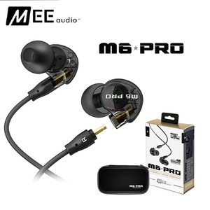 High quality wired Sports Running Earphone MEE Audio M6 PRO Hifi In-Ear Monitors with Detachable Cables PK se215
