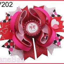 50 шт День святого Валентина посыпает бант волосы популярный веселый бантик праздничные заколки для волос подарок на день Святого Валентина- B