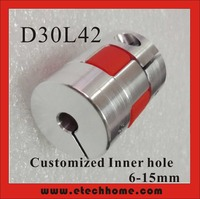 Motor Jaw Shaft Coupler 8x10 Claw Type Flexible Coupling With Elastic Spider D30xL42mm Inner Hole 6