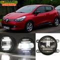 EeMrke Blanco Del Xenón de Alta Potencia 18 W 2 en 1 LED DRL Proyector Luces de Circulación Diurna luz Antiniebla Con Lente Para Renault Clio 4 IV