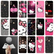 Telefoon Case Modieuze Kitty Voor Xiaomi redmi Note 7 6 5 4x redmi 7 6pro 6a s2 5a 4a 4x 5 plus y3 Soft Cover Coque(China)