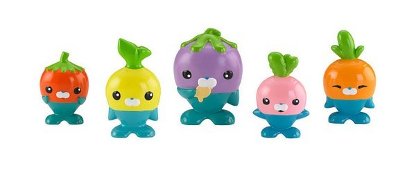 Free shipping original Octonauts action figures The Vegimals  Without box child Toys 4-8cm Christmas gift