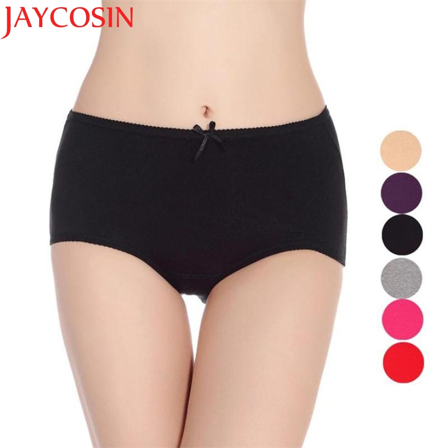 JAYCOSIN Sexy Women Cotton Briefs Charming Bow Physiological Underwear clothes Mid Waist Slimming Pants Drop Shipping