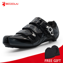 Boodun Men Road Cycling Shoes Bicycle Athletic Racing Sports Shoes Bike Professional Self-Locking Shoes zapatillas ciclismo