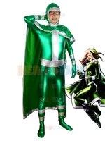 2015 New X-men Rogue Green Costume hot sale halloween cosplay party fullbody X-men Superhero costume hot sale