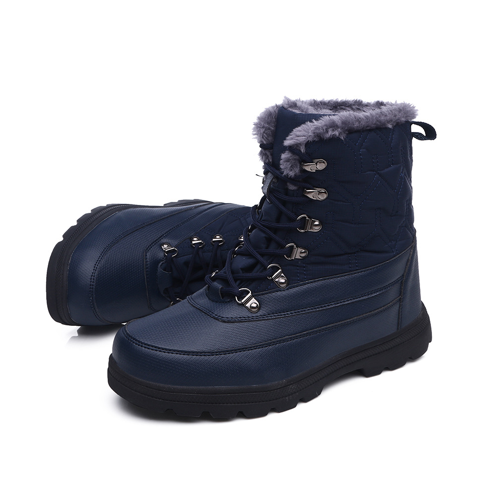 ZYYZYM Mens Boots Winter Leather Boot Unisex Super Warming Plush Snow Boots Men High Top Outdoors Boots Men Zapatos De Hombre in Snow Boots from Shoes