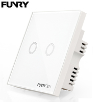 Funry ST1 Brand British Standard High End Standard Ukremote Touch Control Switch170v 240v 2gang1way