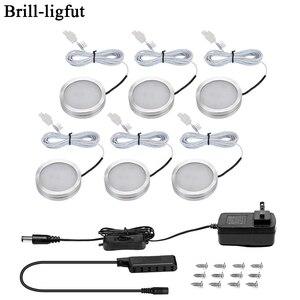 3/6PCS LED Under Cabinet Light 12V 2.5W Kitchen Closet Night lights Home wardrobe Counter Furniture Shelf Lamp with Switch(China)