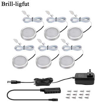 3/6PCS LED Under Cabinet Light 12V 2.5W Kitchen Closet Night lights Home wardrobe Counter Furniture Shelf Lamp with Switch - DISCOUNT ITEM  40% OFF All Category
