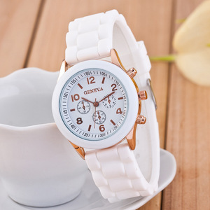 New Fashion Classic Silicone Women Watch simple style wrist watch Silicone Rubber casual dress Girl Relogio masculino 2019 clock(China)
