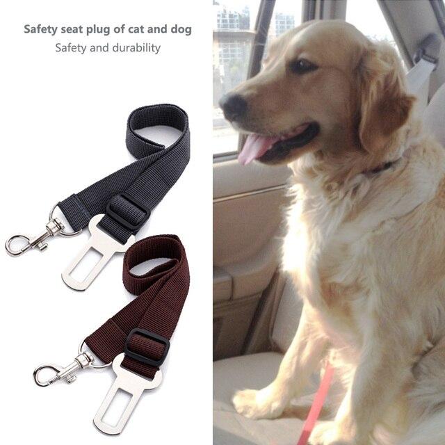 Dog Seat Belt Harness >> Adjustable Pet Cat Dog Seatbelt Vehicle Car Puppy Dogs Seat Belt