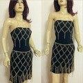 1 conjunto de Moda runway exagerada malha harness cadeia corpo colar de cadeia longa borla sexy biquíni saia decoração de jóias mulheres