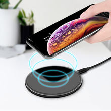 KISSCASE Qi Wireless Charger For Samsung S6 S7 Edge S9 10E Plus Note 8 10W Fast Wireless Charging for iPhone X 8 Plus Charger(China)