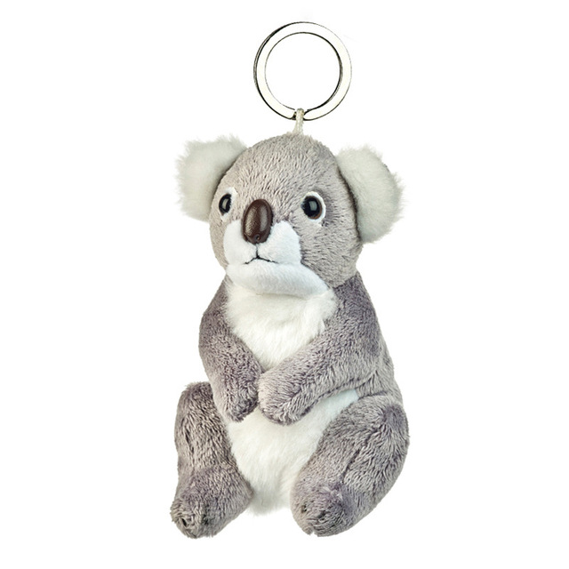 National Geographic  New  kinds of plush key chain animals for women  or men hand bag car keyring plush dolls