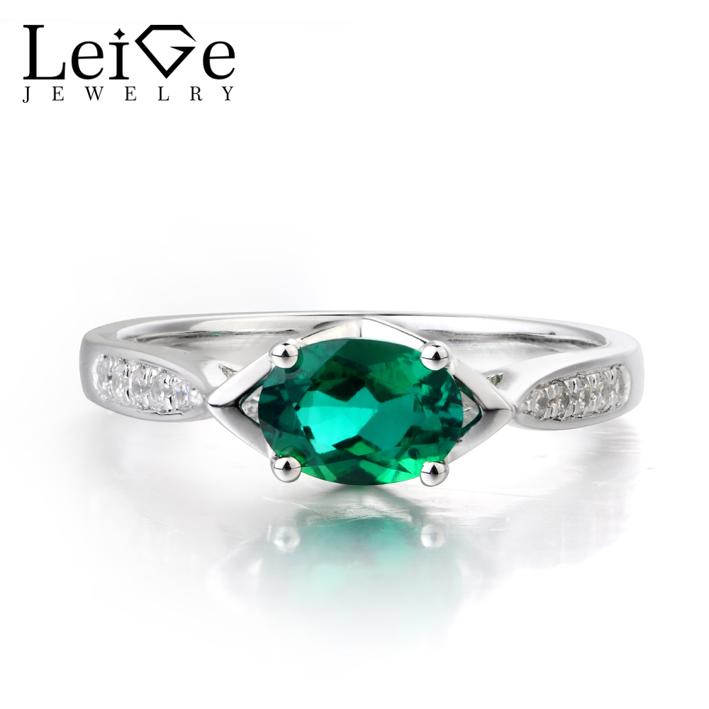 Top Quality Natural Emerald Cz Ring in 925 Sterling Silver Ring May Birthstone Ring Stylish Wedding Engagement Gemstone Ring Hand Made Ring