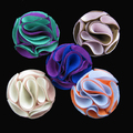 Wholesale - Fashion 5CM men clucth pin fabric flower brooch pins  24pcs/lot 21color for your choice free shipping