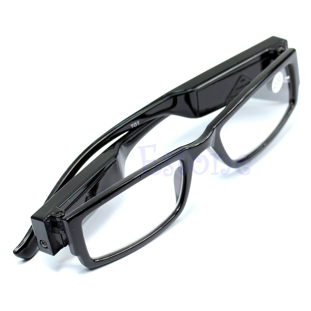 Multi Strength LED Reading Eyeglass Glasses Spectacle Diopter Magnifier Light UP 1.00-4.00 Diopter