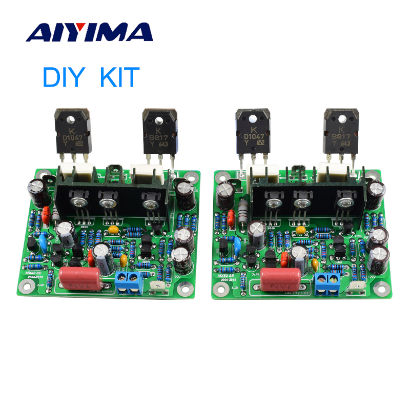 AIYIMA 2 PCS MX50 SE 100WX2 Saluran Ganda Audio Power Amplifier Papan HiFi Stereo Amplifier Diy Kit
