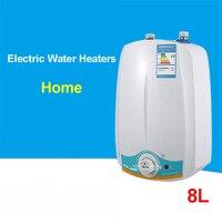Novo 8l 220 v/50 hz velocidade do chuveiro elétrico imediato banho de chuveiro quente aquecedor de indução aquecedor elétrico água quente