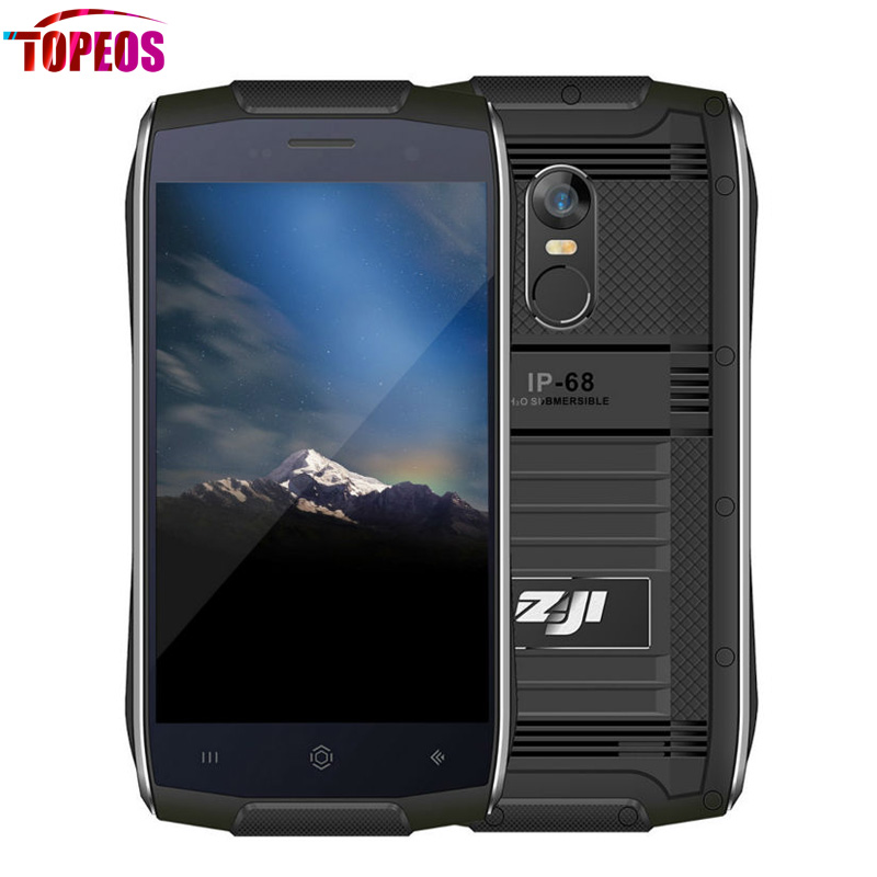 4.7''HOMTOM ZOJI Z6 IP68 Waterproof 1GB RAM 8GB ROM 2700mAh Dual Camera MTK6580 Quad Core Rugged Smartphone HD Fingerprint ID