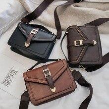Women PU Leather 2019 Solid Color Chic Casual Messenger Simple Retro Shoulder Bag Versatile Satchels Bags Coin Purse