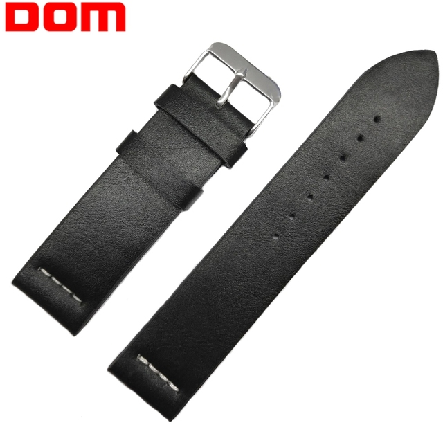 DOM Leather Bracelet For Men Watch Band 18mm 20mm 22mm Watch Strap Belt Men Repl