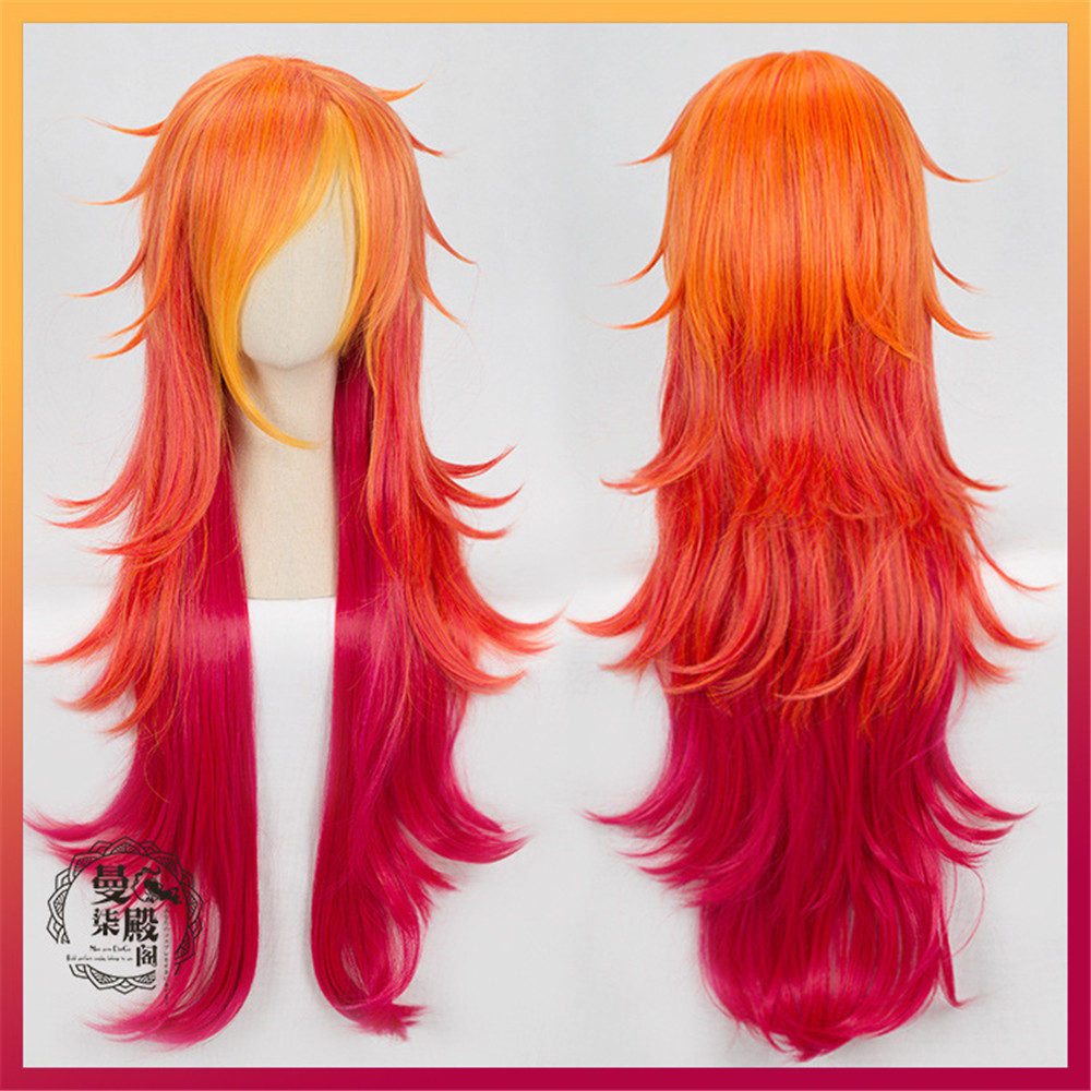 100cm Wig Lol Miss Fortune Wig Star Guardian Cosplay Costume Hair Wig + Ear Anime Men Adult Women Hair To Win A High Admiration