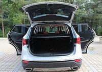 Trunk Shade BLACK Cargo Cover for Hyundai Santa Fe IX45 2013 2016 5 seats