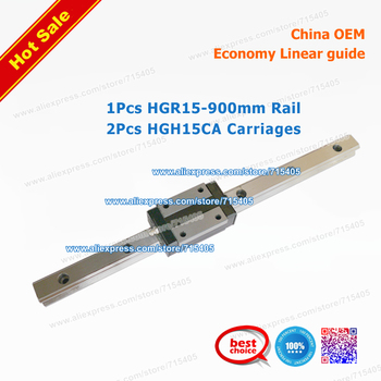 High quality Economy Linear rail BRH15 HGR15 L900mm + HGH15CA carriages