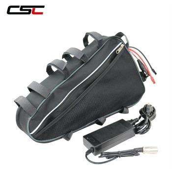 Bateria litowa akumulator do rowerów elektrycznych 36V 48V baterii 13Ah 15Ah 20Ah trójkątna torba Ebike bateria do zestaw do konwersji roweru na elektryczny tanie i dobre opinie 10-20ah 48 v