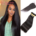 Lumina Hair With Closures 8a Brazillian Straight Hair With Closure 3 Bundles Brazilian Hair Straight Weave With Closure