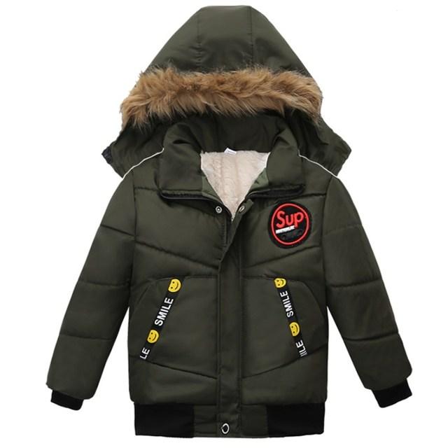 Warm Down Hooded Long Sleeve Jacket