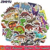 50 pièces Dinosaure de Dessin Animé Autocollant Animal Jurassique Jouets Éducatifs Autocollants pour Enfants bricolage Portable Scrapbooking Bagages Vélo