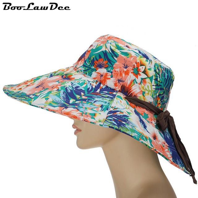 BooLawDee Mujer y mujer playa de verano gran sombrero de ala ancha casquillo del sol sombrerería personalizada de fábrica mayoristas spot 4F210