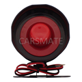 Hot Selling Universal 6 Six tone siren horn for car alarms DC12V 15W 120dB Electronic Siren With 35cm Wire