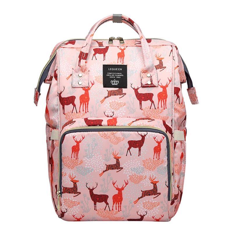 Lequeen Nursing Bag Mummy Maternity Nappy Brand Large Capacity Baby Bag Travel Backpack Designer Nursing Bag for Baby Care