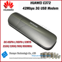 New Original Unlock DC-HSPA+ 42Mbps HUAWEI E372 3G USB Sim Card Modem And 3G USB Data Card Support All Band cheap Wireless External WCDMA EDGE Stock 43 2Mbps Black White 850 900 1900 2100Mhz 850 900 1800 1900MHz 5 76Mbps About 30G USB 2 0