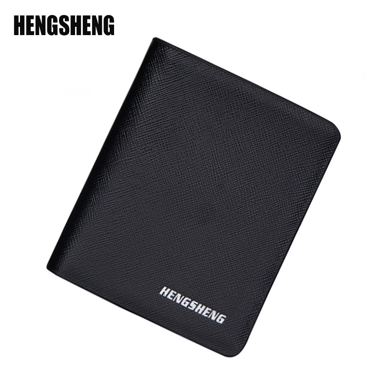 HENGSHENG Men Wallets European American Retro Mens Short Wallet Card Package Multi-Card Bit PU Material Multifunction A2963