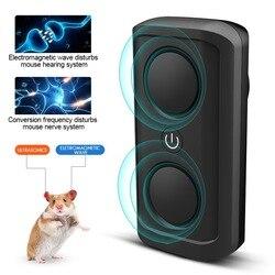 Gospodarstwa domowego elektromagnetyczne ultradźwiękowy odstraszacz szkodników myszy szczury pluskwy gryzonie owady elektronicznych środek odstraszający z podwójnymi głośnikami w Środki odstraszające od Dom i ogród na